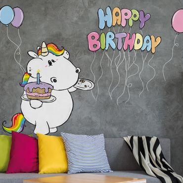 Wandtattoo Pummeleinhorn Happy Birthday