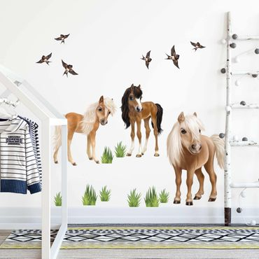 Wandtattoo - Set Pferde