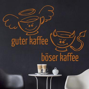 Wandtattoo Sprüche Guter böser Kaffee