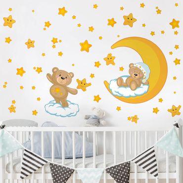 Wandtattoo - Teddys Sternenhimmel Traum Set