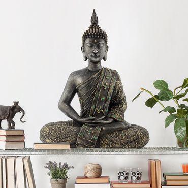 Wandtattoo Zen Buddha Stein