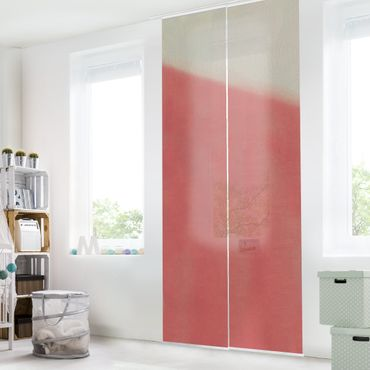 Schiebegardinen Set - Warme Farbflächen - Flächenvorhang