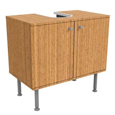 Waschbeckenunterschrank - Bambus - Holzoptik Badschrank Beige Braun