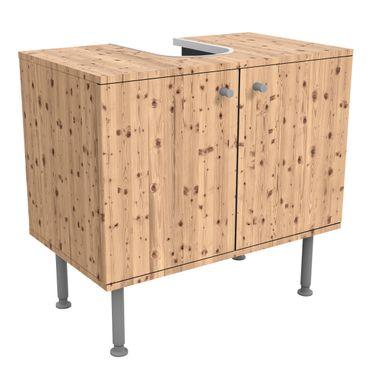 Waschbeckenunterschrank - Holz Antique Whitewood - Holzoptik Badschrank Beige