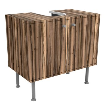 Waschbeckenunterschrank - Holz Arariba - Holzoptik Badschrank Braun