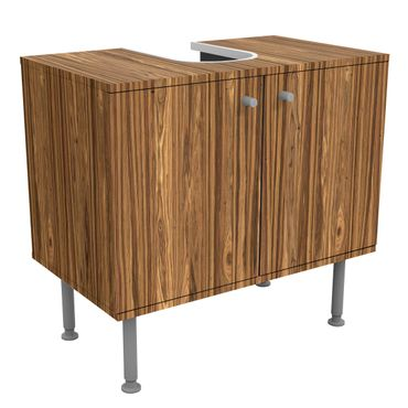 Waschbeckenunterschrank - Holz Macauba - Holzoptik Badschrank Braun