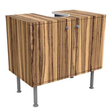 Waschbeckenunterschrank - Holz Schwarze Olive - Holzoptik Badschrank Braun