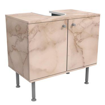 Waschbeckenunterschrank - Marmoroptik Grau Braun - Badschrank