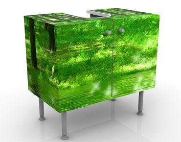 Waschbeckenunterschrank - Morgenzauber - Badschrank Grün