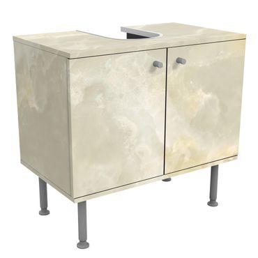 Waschbeckenunterschrank - Onyx Marmor Creme - Badschrank