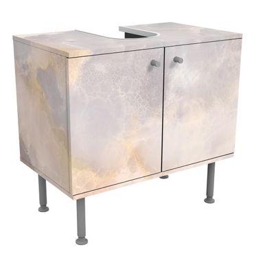 Waschbeckenunterschrank - Onyx Marmor Grau - Badschrank