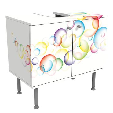 Waschbeckenunterschrank - Rainbow Bubbles - Badschrank Bunt