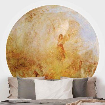 Runde Tapete selbstklebend - William Turner - Engel vor Sonne