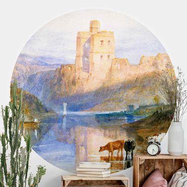 Runde Tapete selbstklebend - William Turner - Norham Castle