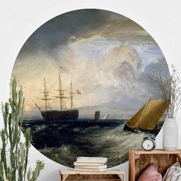 Runde Tapete selbstklebend - William Turner - Sheerness