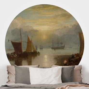 Runde Tapete selbstklebend - William Turner - Sonnenaufgang