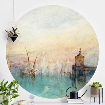 Runde Tapete selbstklebend - William Turner - Venedig mit Mond