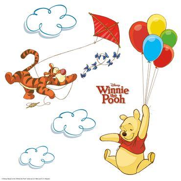 Winnie Pooh Fenstersticker - Pooh & Tigger Set - Komar Deco-Sticker