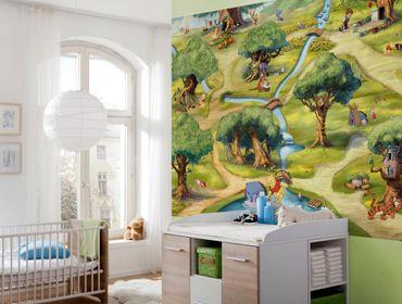 Winnie Pooh Tapete - Hundertmorgenwald - Komar Fototapete