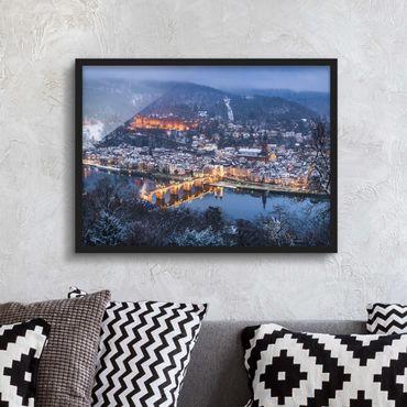 Bild mit Rahmen - Winterliches Heidelberg - Querformat