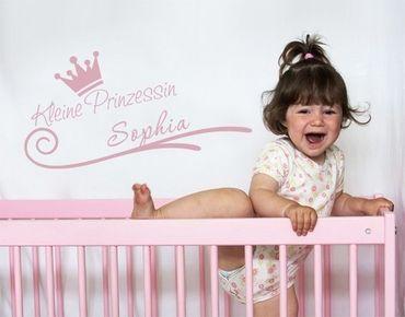 Wunschtext-Wandtattoo Kleine Prinzessin