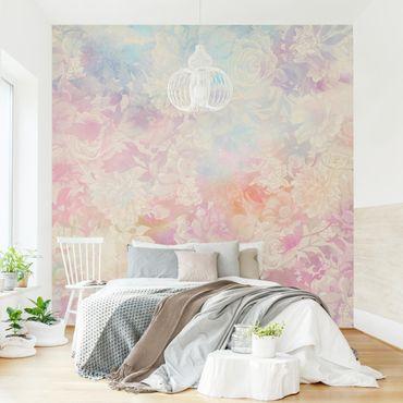Fototapete - Zarter Blütentraum in Pastell