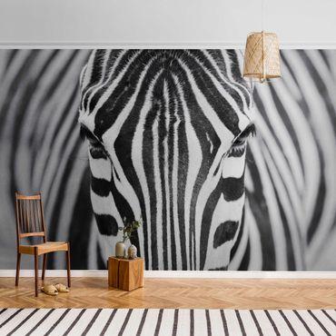 Metallic Tapete  - Zebra Look