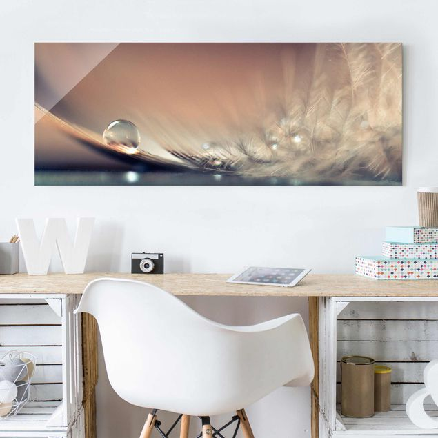 Glasbild - Story of a Waterdrop - Panorama Quer
