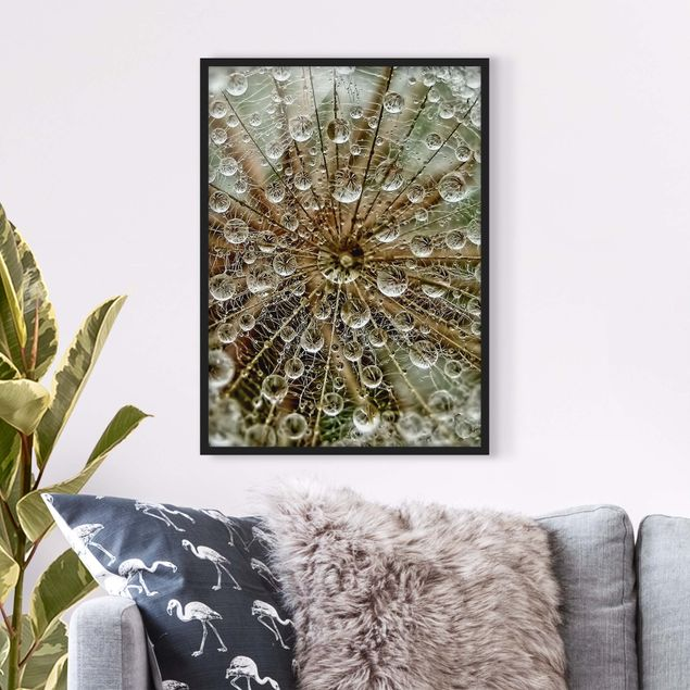 Bild mit Rahmen - Pusteblume im Herbst - Hochformat 3:4