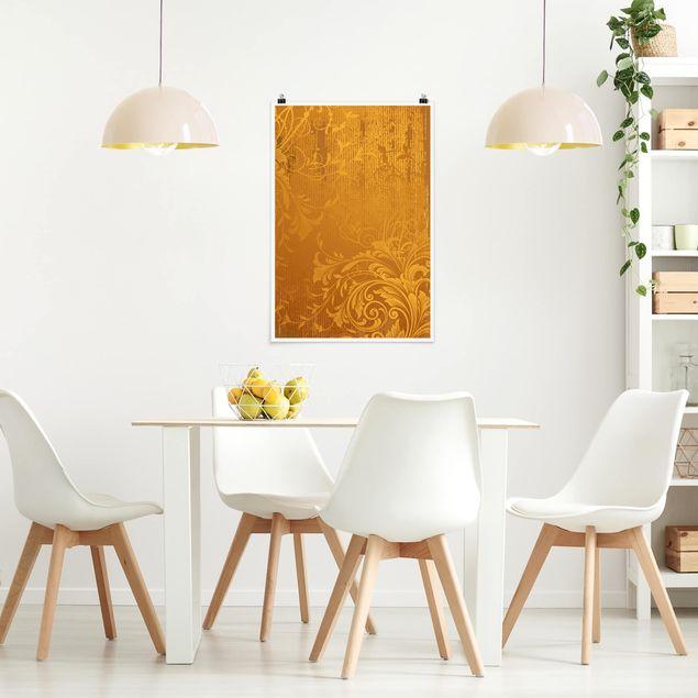 Poster - Goldene Flora - Hochformat 3:2