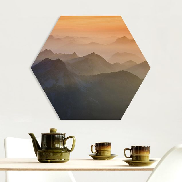 Hexagon Bild Forex - Blick von der Zugspitze