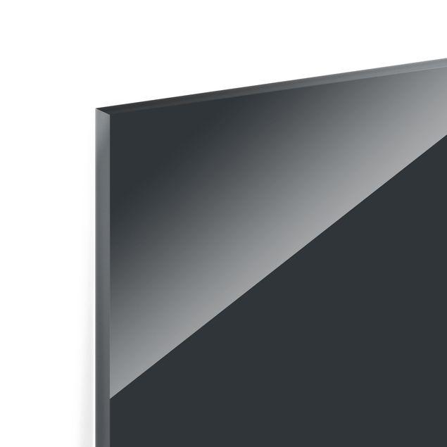 Glas Spritzschutz - Mondgrau - Querformat - 4:3