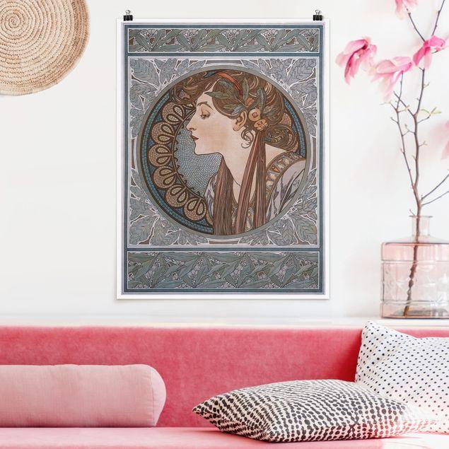 Poster - Alfons Mucha - Helena - Hochformat 3:4