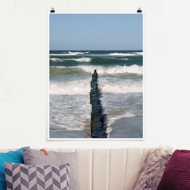 Poster - Breakwater - Hochformat 3:4