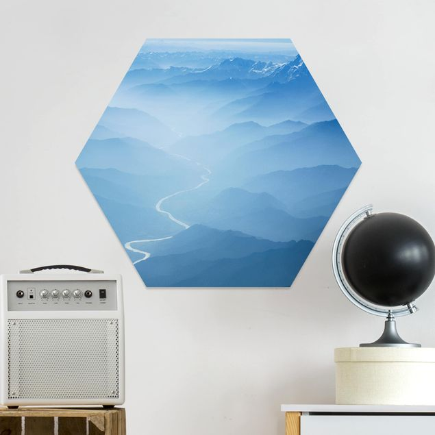 Hexagon Bild Forex - Blick über den Himalaya