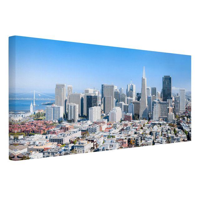 Leinwandbild - San Francisco Skyline - Querformat 2:1