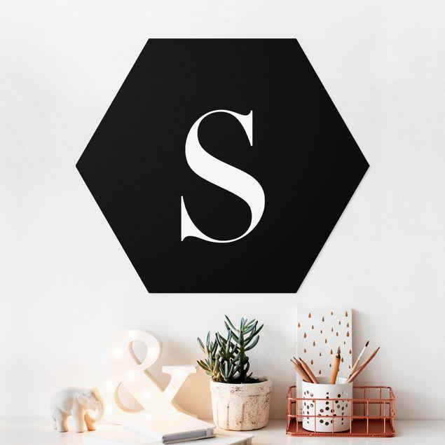 Hexagon Bild Forex - Buchstabe Serif Schwarz S
