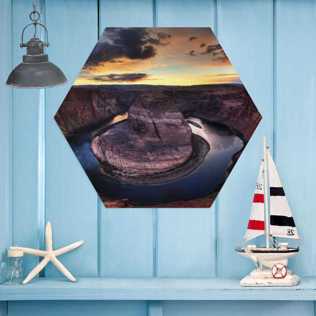 Hexagon Bild Alu-Dibond - Colorado River Glen Canyon