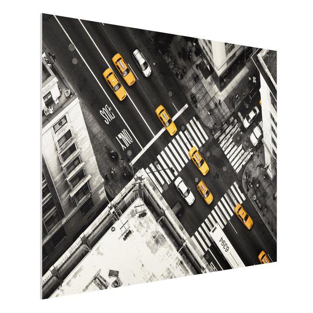 Forex Fine Art Print - New York City Cabs - Querformat 3:4