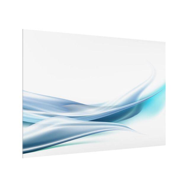 Glas Spritzschutz - Blue Dust - Querformat - 4:3