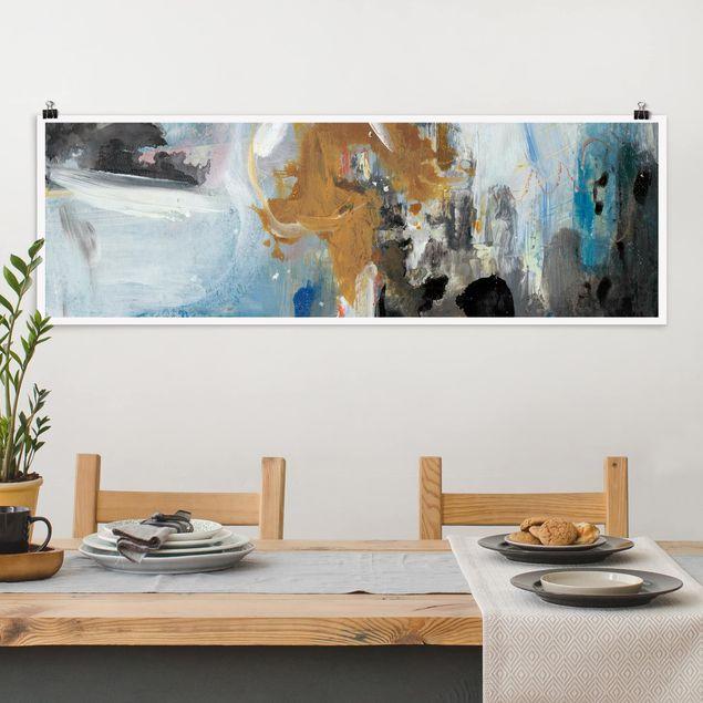 Poster - Wechselspiel Abstrakt II - Panorama Querformat