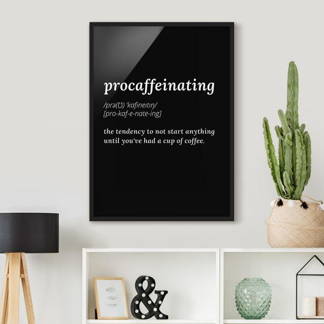 Bild mit Rahmen - procaffeinating - Hochformat 3:4