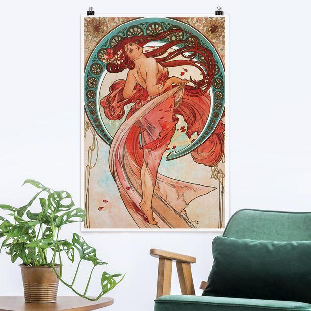 Poster - Alfons Mucha - Vier Künste - Der Tanz - Hochformat 3:2
