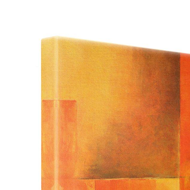 Leinwandbild Gold - Amarna - Querformat 2:1