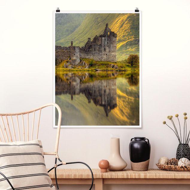 Poster - Kilchurn Castle in Schottland - Hochformat 3:4
