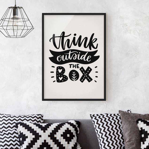 Bild mit Rahmen - Think outside the box - Hochformat 3:4