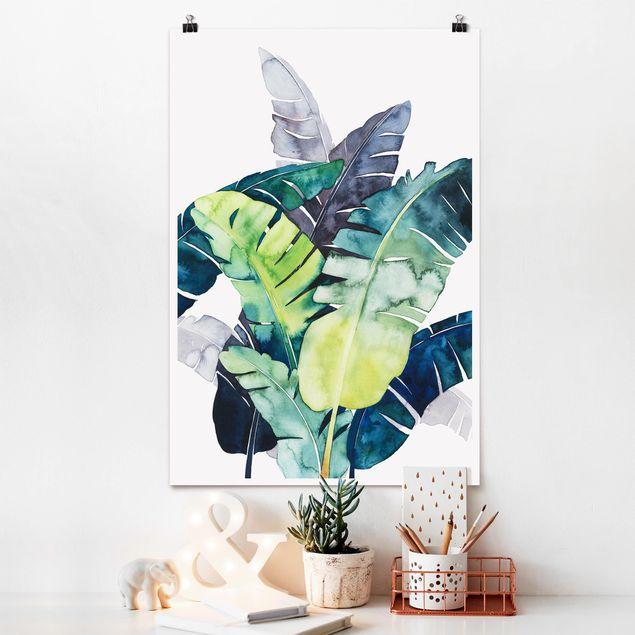 Poster - Exotisches Blattwerk - Banane - Hochformat 3:2