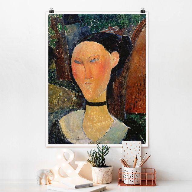 Poster - Amedeo Modigliani - Junge Frau - Hochformat 3:4