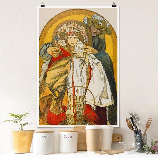 Poster - Alfons Mucha - Plakat Tschechoslowakischen Republik - Hochformat 3:2