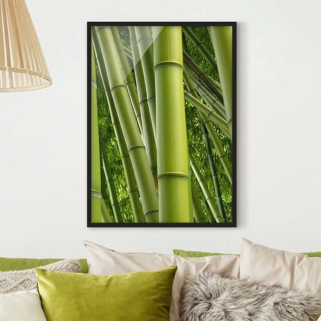 Bild mit Rahmen - Bamboo Trees No.2 - Hochformat 3:4